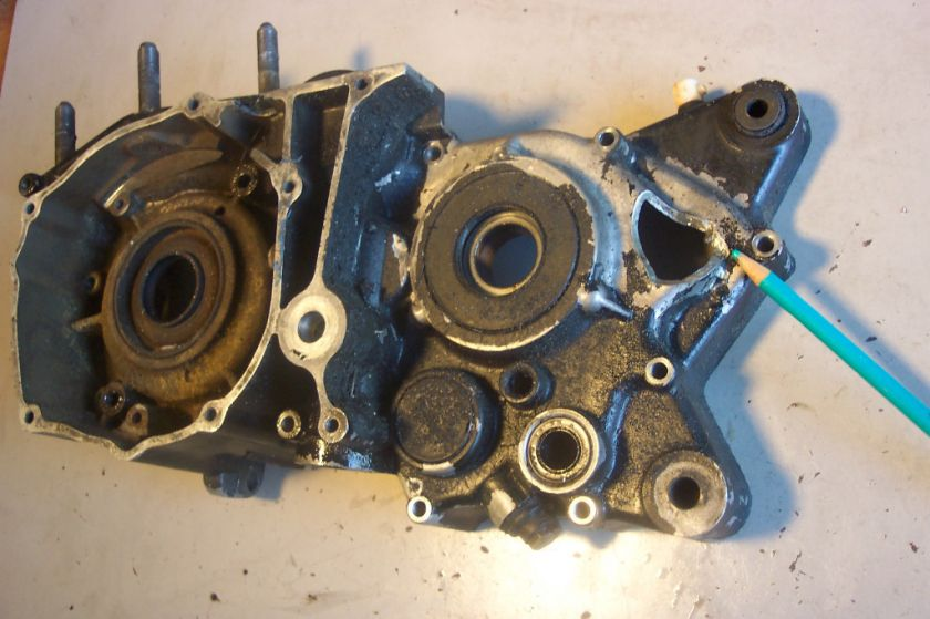 Yamaha 1974 DT 360 A Left Engine Motor Case Half ( NEEDS REPAIR