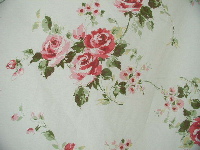 Rachel Ashwell Shabby Chic ™ Somerset Roses on White by the Yd
