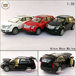 New Cadillac 132 SRX Alloy Diecast Model Car With Sound&Light White