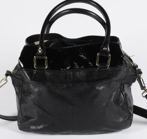 Kate Spade Black Patent Leather Everyday Carryall Convertible Shoulder